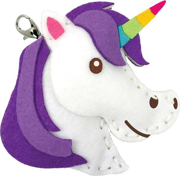 Sew Cute! Felt Backpack Clip Kit Unicorn