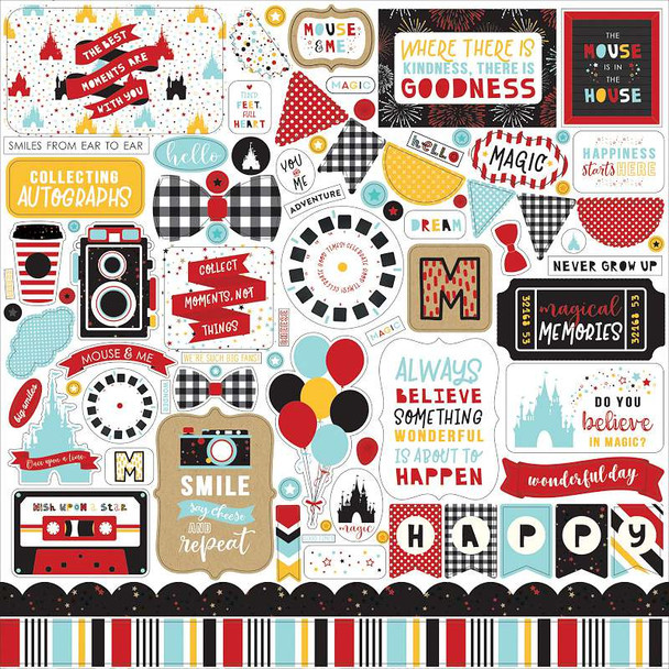 """Magical Adventure 2 Cardstock Stickers 12""""X12"""" Elements"""
