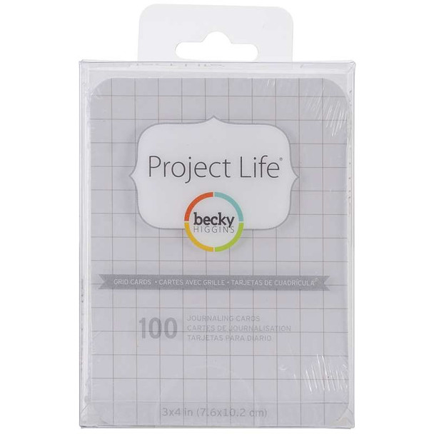 "Project Life 3""X4"" Cards 100/Pkg Grid"