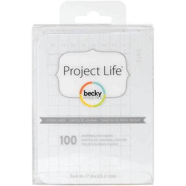 """Project Life 3""""X4"""" Cards 100/Pkg Ledger"""