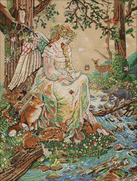 """Mother Nature Counted Cross Stitch Kit 16""""X20"""" 14 Count"""