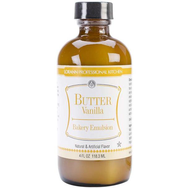Bakery Emulsions Natural & Artificial Flavor 4oz Butter Vanilla