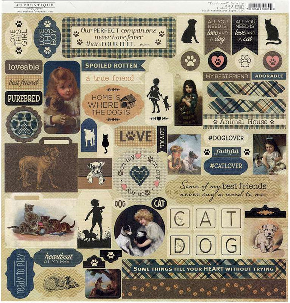 """Purebred Cardstock Stickers 12""""X12"""" Details"""