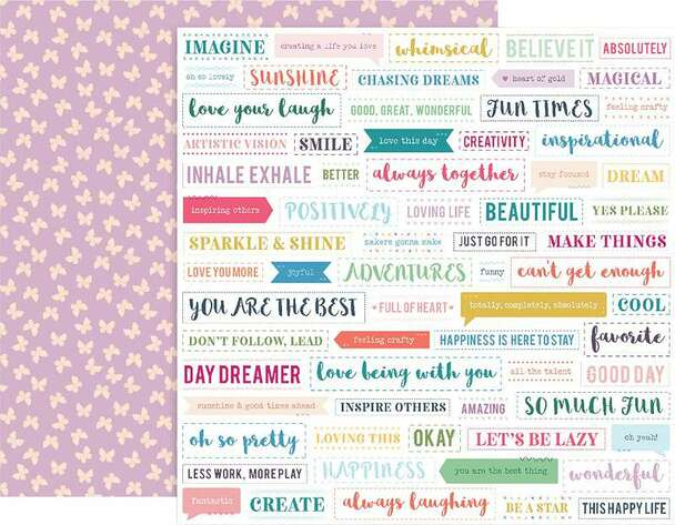 """Paige Evans Whimsical Double-Sided Cardstock 12""""X12"""" #18"""
