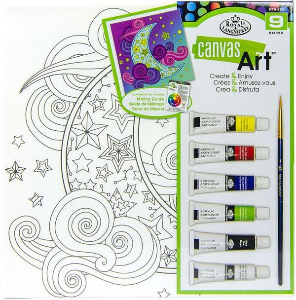Canvas Art Paint Kit Moon