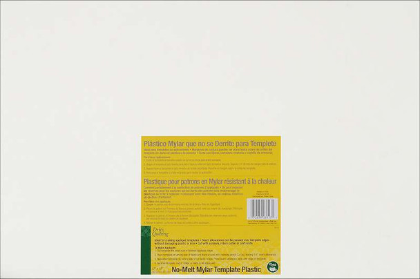 "Dritz Quilting No-Melt Mylar Plastic Template 12""X18"""