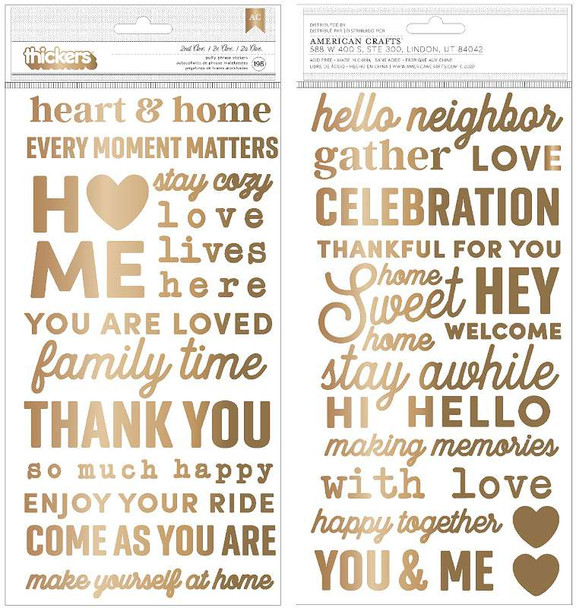 """Jen Hadfield The Avenue Thickers Stickers 5.5""""X11"""" 196/Pkg Phrase/Puffy"""
