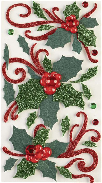Jolee's Christmas Stickers Flourishes and Holly