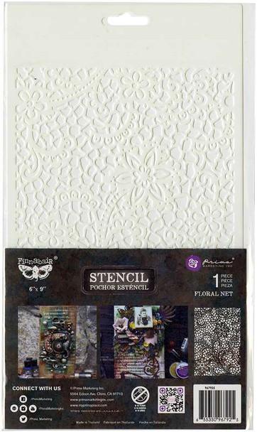 "Prima Marketing Stencil 6""X9"" Floral Net"