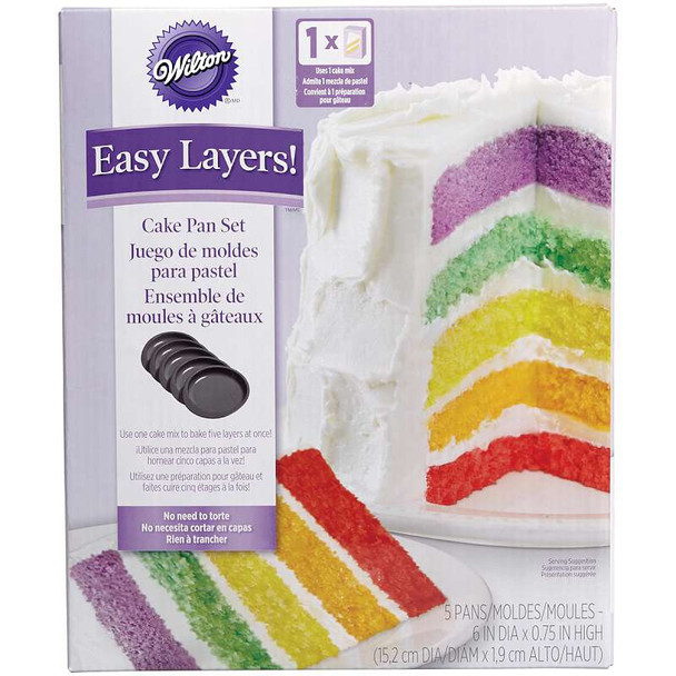 "5-Layer Cake Pan Set 5/Pkg Round 6""X6""X.75"""