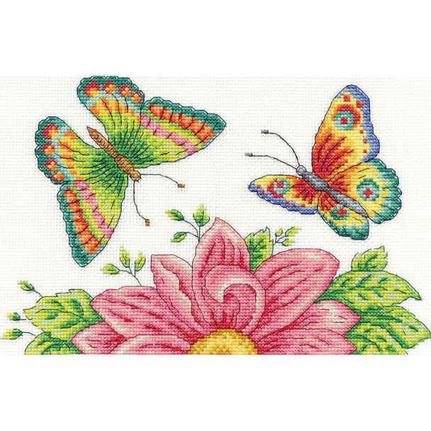 "Butterfly Garden Counted Cross Stitch Kit 10""X6.5"" 14 Count"