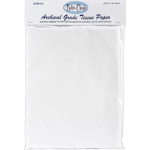 "Archival Grade Tissue Paper - Buffered 24""X36"" 12/Pkg"