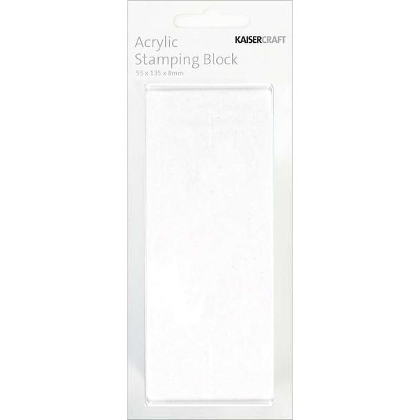 "Acrylic Stamping Block 2""X5.25""X.25"""