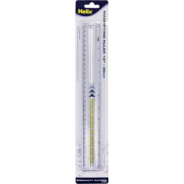 "12"" Magnifying Ruler Clear"