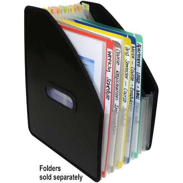 13-Pocket Vertical Expanding File Black