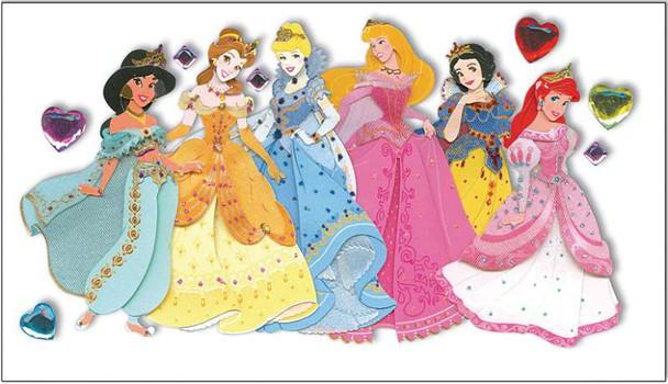 Disney Dimensional Stickers Princesses