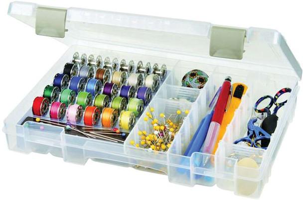 "ArtBin Sew-Lutions Bobbin & Supply Box 10.75""X7.375""X1.75"" Translucent"