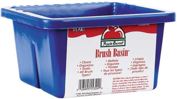 """Apple Barrel Brush Basin 8.5""""X6.5""""X3.5"""""""