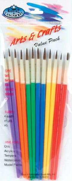 Arts & Crafts Brush Set 12/Pkg