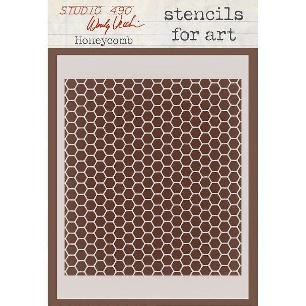 "Wendy Vecchi Stencils For Art 6.5""X4.5"" Honeycomb"