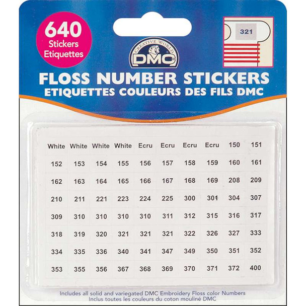 Floss Number Stickers 500/Pkg