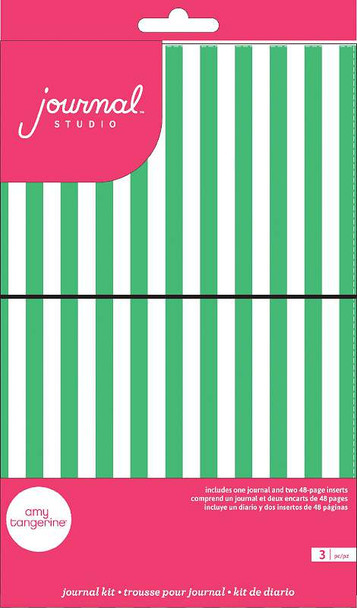American Crafts Journal Studio Kit Green Stripe By Amy Tangerine