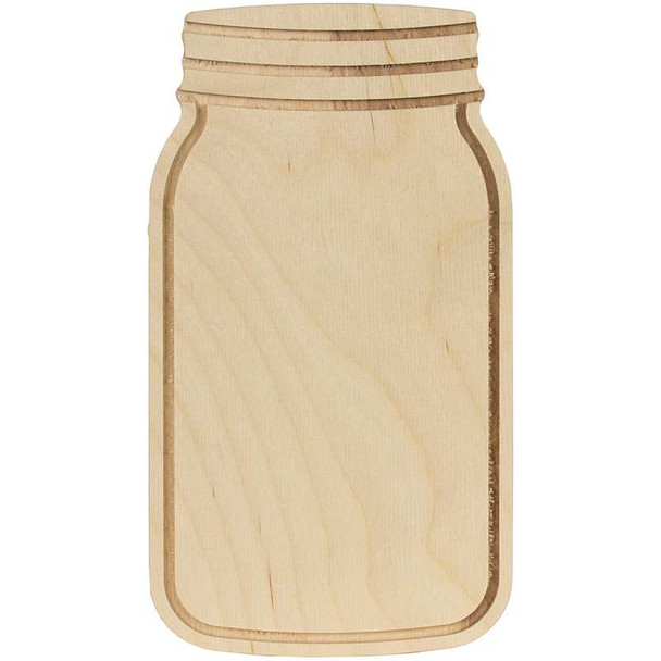 """Baltic Birch Mason Jar Shape 5""""X9""""X.35"""""""