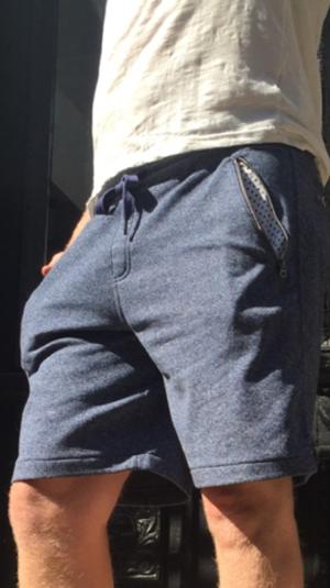 BANGLER: Classic Blue shorts
