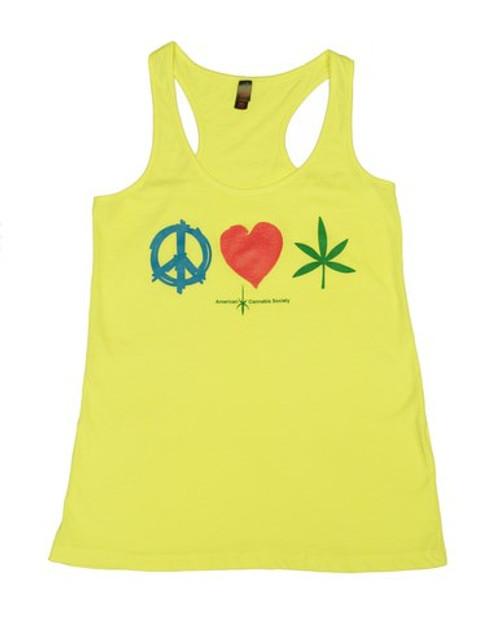 Peace, Love, Weed shirt women's tank top