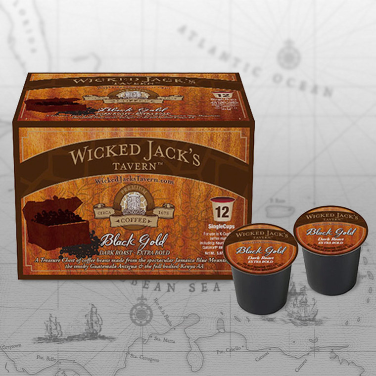 Wicked Jack's Coffee - Single Cup Black Gold (12pk.)