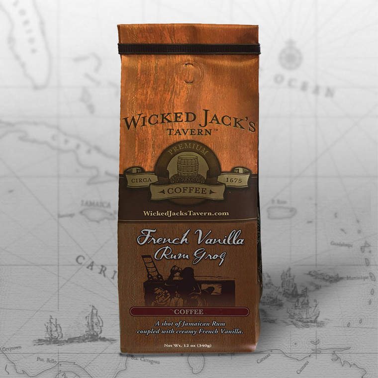Wicked Jack's Coffee - French Vanilla Rum Grog (12oz.)