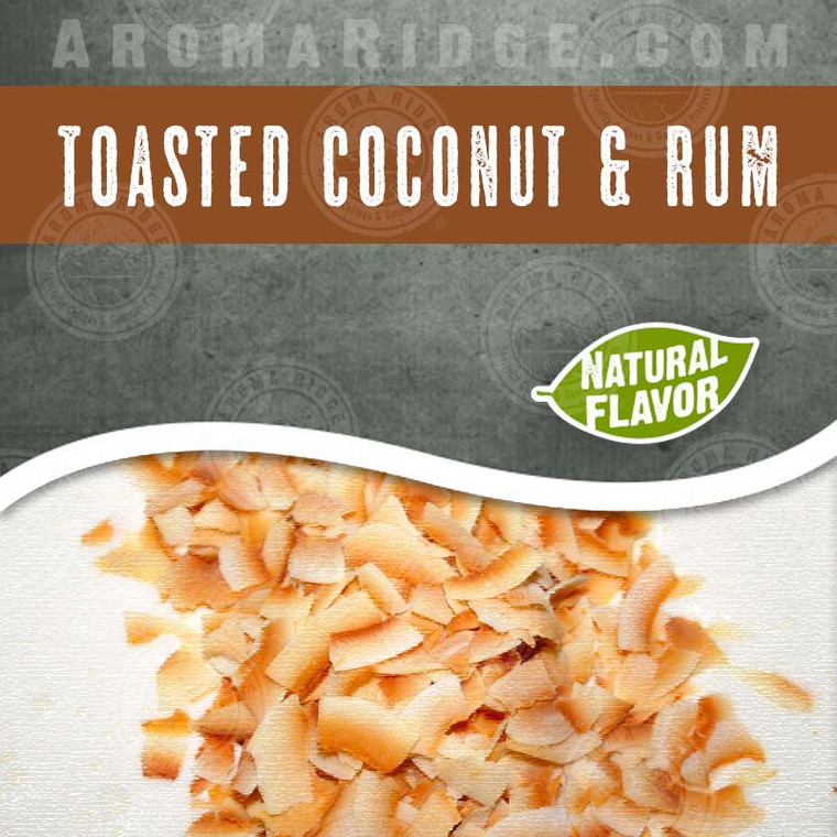 Toasted Coconut Rum -  Natural Flavored Coffee