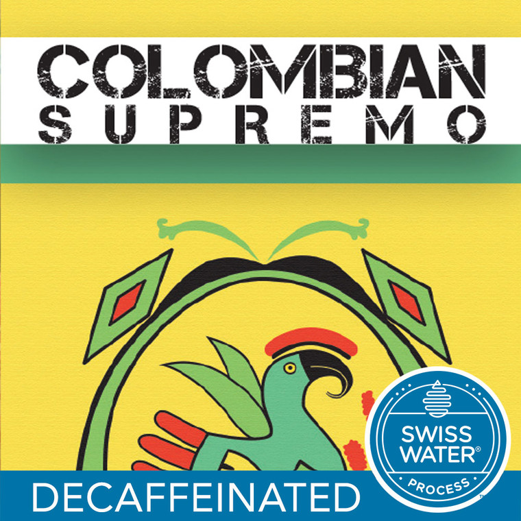 Colombian Supremo  Swiss Water Process Decaf Coffee