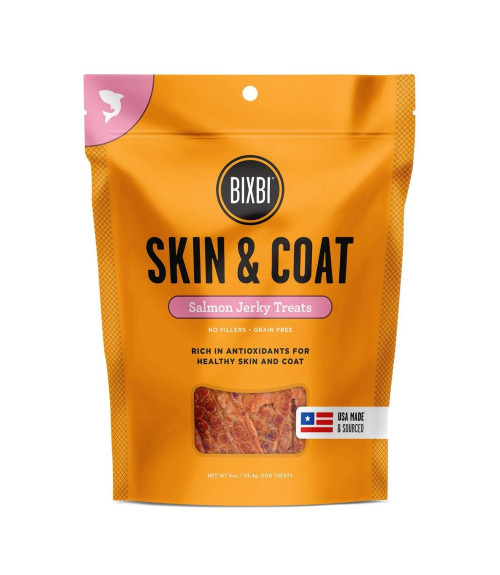 Bixbi Skin and Coat Jerky Salmon