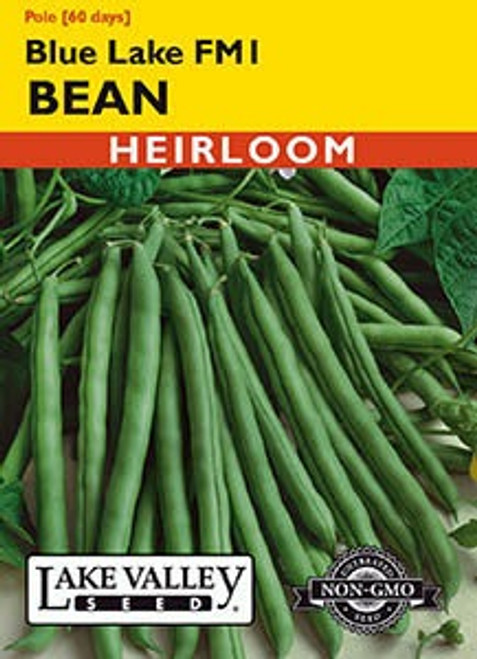 Lake Valley Bean (Pole) Blue Lake FM1 Seed