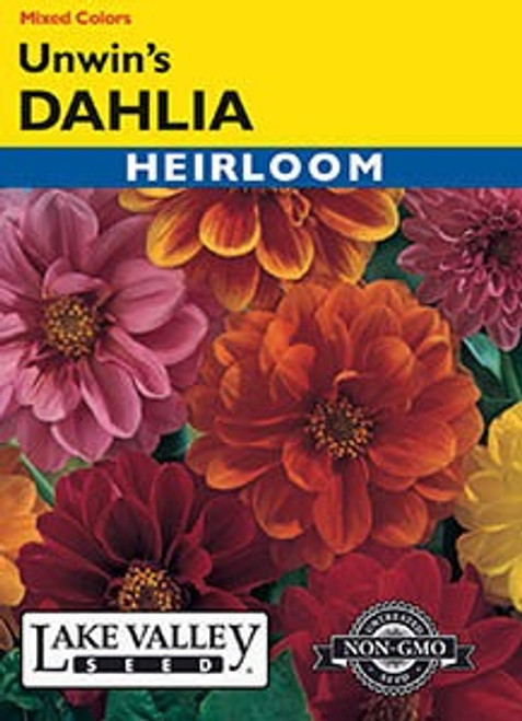 Lake Valley Dahlia Unwin's Mixed Colors Seed