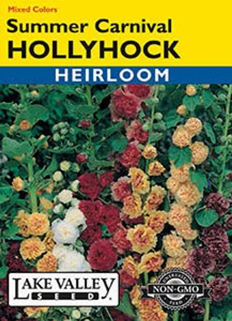 Lake Valley Hollyhock Summer Carnival Mix Seed