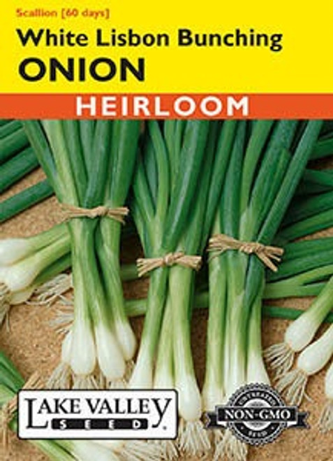 Lake Valley Onion White Lisbon Bunching Seed