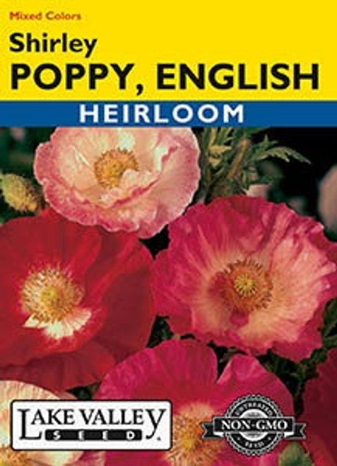 Lake Valley Poppy (English) Shirley Mixed Seed