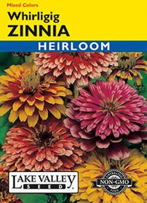 Lake Valley Zinnia Whirligig Mixed Colors Seed