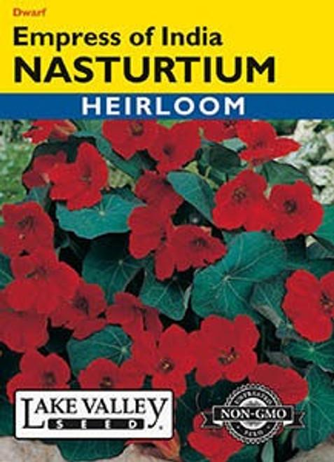 Lake Valley Nasturtium Empress of India Seed