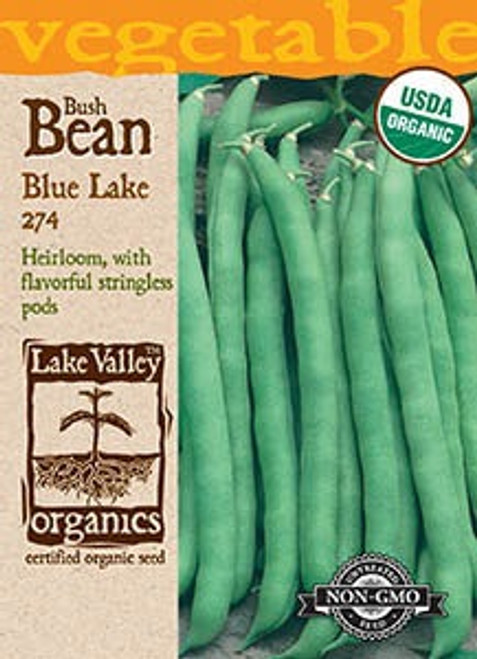 Lake Valley Bean (Bush) Blue Lake 274 Organic Seed