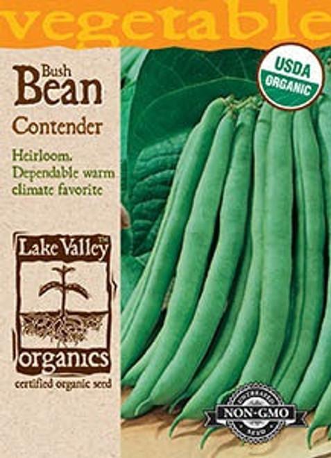 Lake Valley Bean (Bush) Contender-Organic Seed