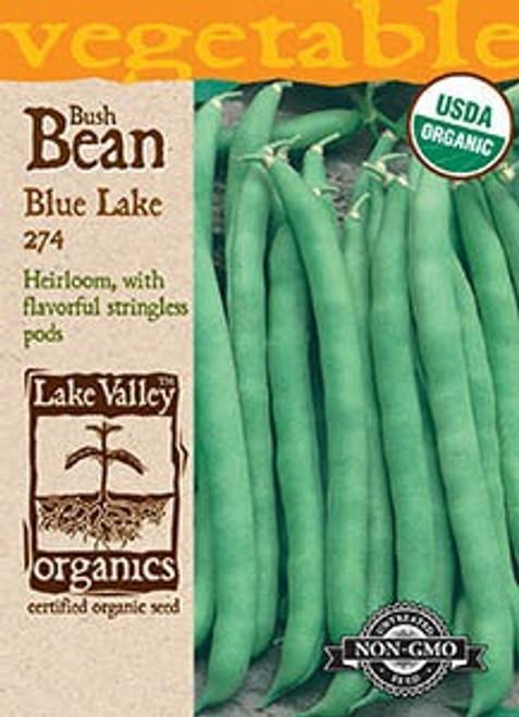 Lake Valley Bean (Bush) Blue Lake 274-Organic Seed