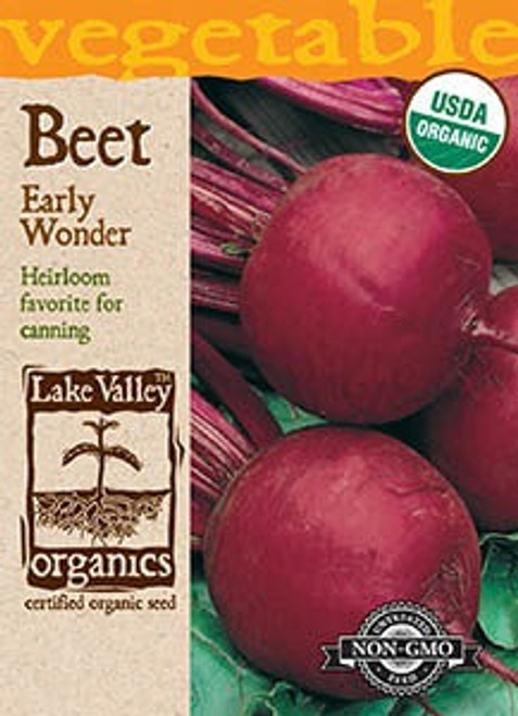 Lake Valley Beat Early Wonder Organic Seed