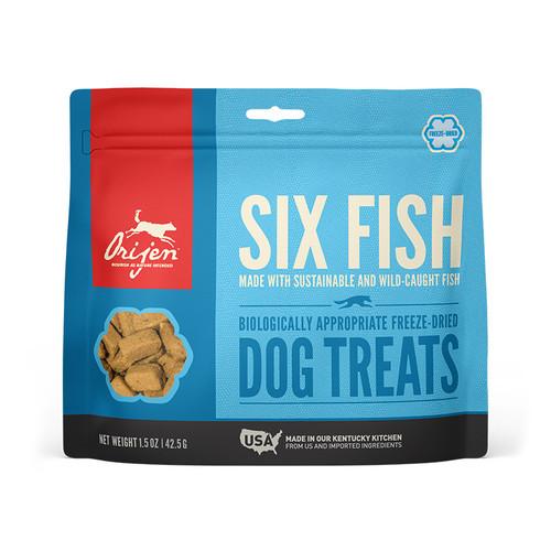 Orijen Dog Freeze Dried Treats Six Fish, 1.5z