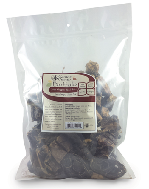 Canine Caviar Buffalo Organ Trail Mix, 28oz