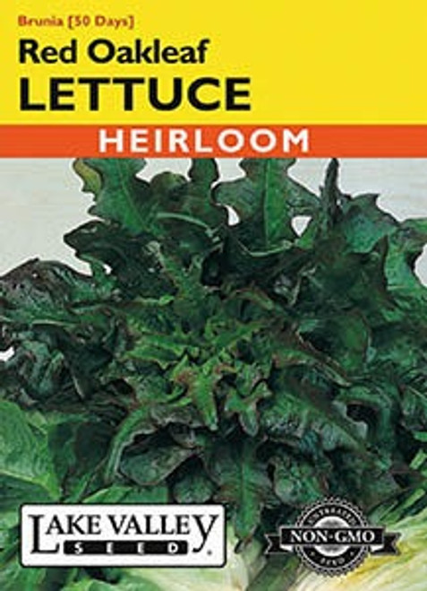 Lake Valley Lettuce Red Oakleaf Brunia Seed