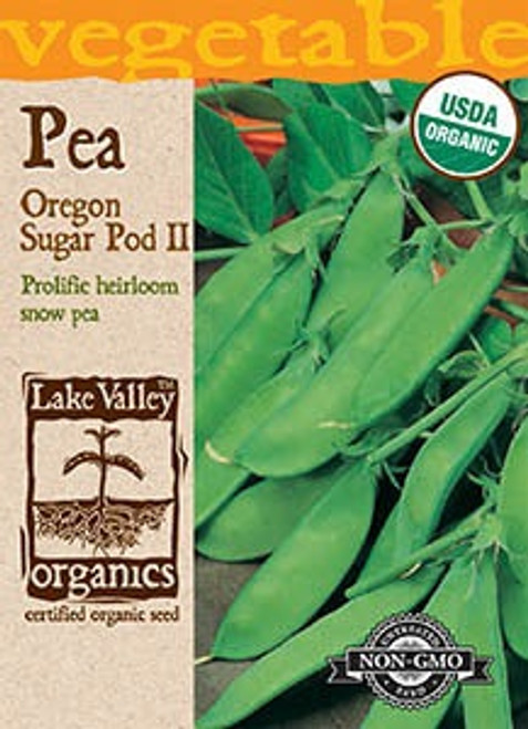 Lake Valley Pea Oregon Sugar Pod II Organic Seed