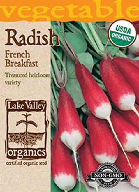 Lake Valley Radish French Breakfast Organic Seed